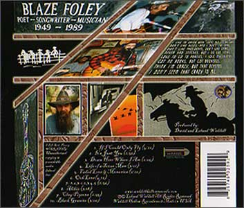 Blaze Foley CD traycard